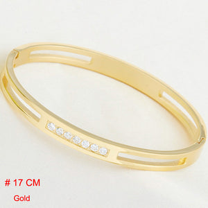 Titanium Stainless Steel / Gold Plated Crystal Brand lover Charm Bracelets For Women and Men (Free Shipping) - SuperShopSale.com