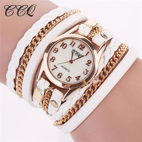 Casual Fashion Wrist Watch Leather Bracelet for Women (Free Shipping)