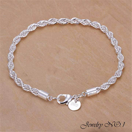 Silver Plated Bracelet For Men and Women (Free Shipping)