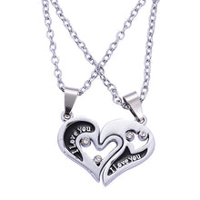 "Load image into Gallery viewer, I Love You ""Have Mutual Affinity"" Heart Stainless Steel Lover Necklaces - SuperShopSale.com"