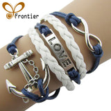 Charm Vintage Anchor Rudder 8 Bronze Wax Cords Multilayer Braided Bracelet For Women (Free Shipping) - SuperShopSale.com