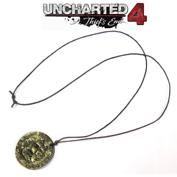 Uncharted 4 A Thiefs End Drake Ancient Coins Corsair Skull Necklace