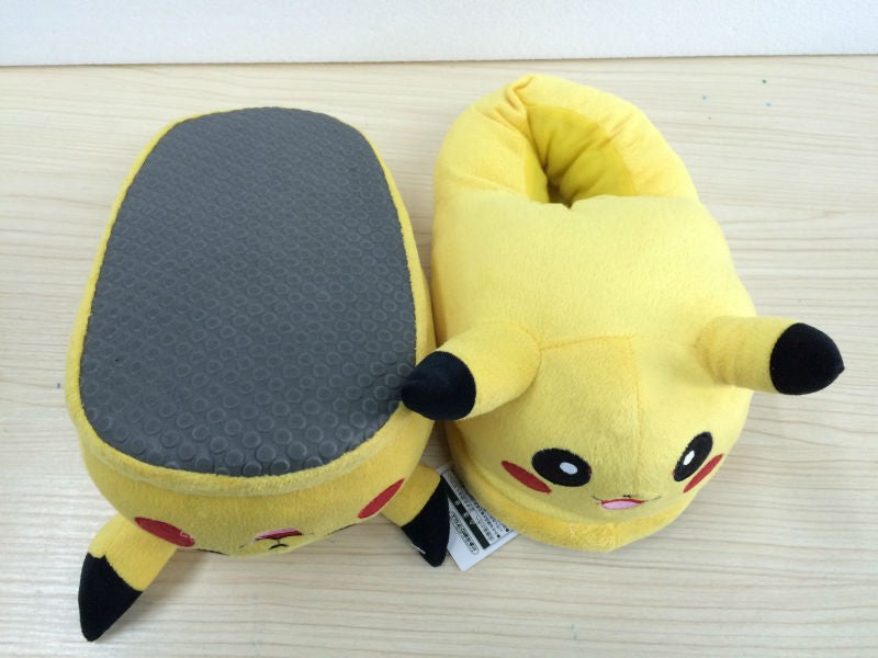 Pokemon Pikachu Plush Slippers Shoes