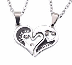 "I Love You ""Have Mutual Affinity"" Heart Stainless Steel Lover Necklaces"