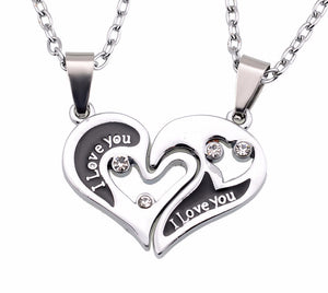 "I Love You ""Have Mutual Affinity"" Heart Stainless Steel Lover Necklaces - SuperShopSale.com"