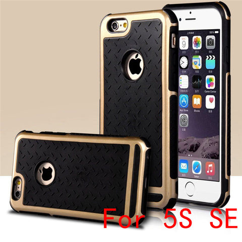 Ultra Thin Shockproof Rubber PC and TPU Hybrid Case Cover For Apple iPhone 5S SE 6 6S 6 plus High Quality FREE + SHIPPING