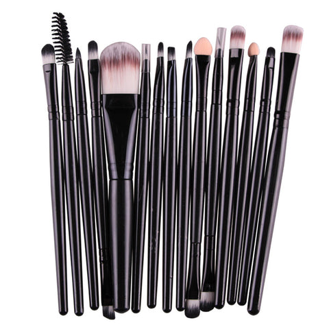 15Pcs  Makeup Brushes Tool Set