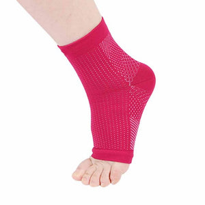 Outdoor Sports Anti Fatigue Angel Circulation Compression Foot Sleeve Socks - SuperShopSale.com