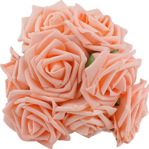 Artificial Rose Flowers  Bouquet Wedding Party Home Decor, Pack of 10