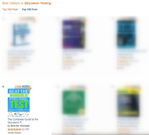 Wonderlic Best-Seller on Amazon