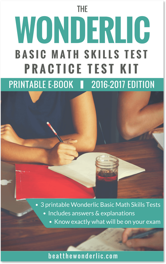 Practice Tests for the Wonderlic Basic Math Skills Test