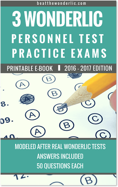 3 Wonderlic Personnel Test Practice Exams