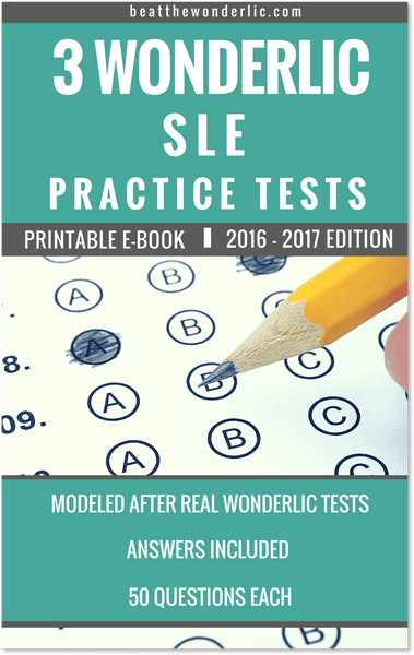 3 Wonderlic SLE Practice Tests