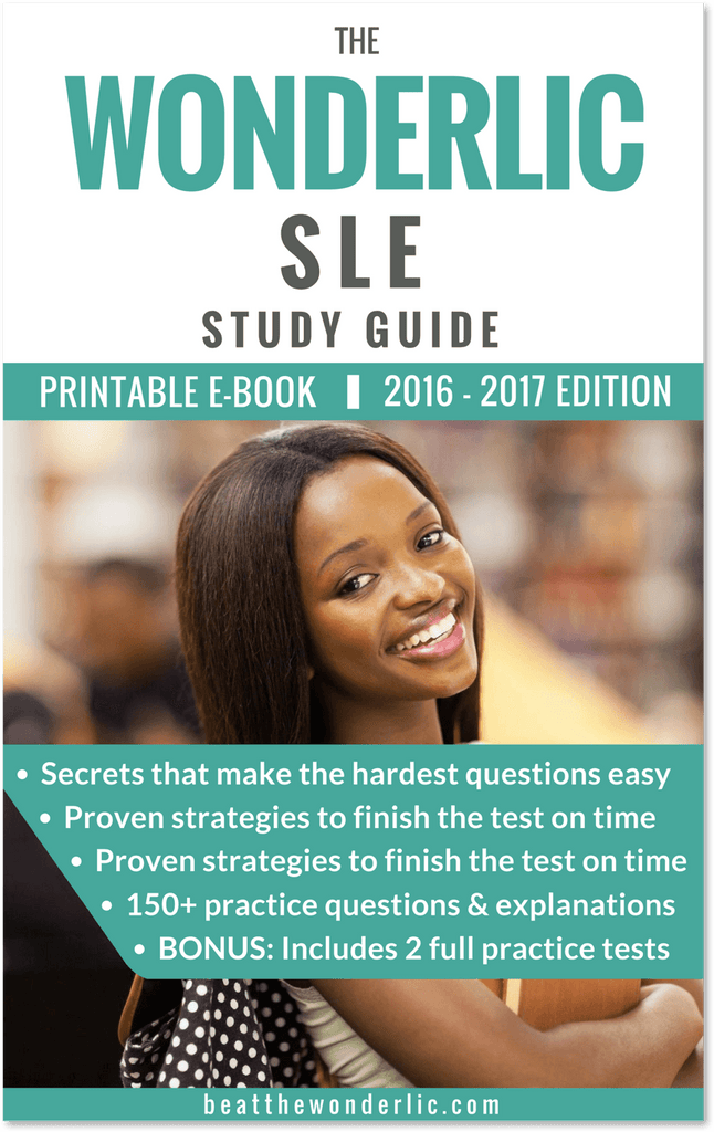 The Wonderlic SLE Study Guide