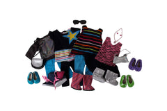 "Springfield Dolls Ultimate Wardrobe - 18"" Doll Outfit Set - 10 Items Including a Sweatshirt, Pants, Doll Tank Top, Tutu, Two Tops and Leggings for dolls, Boots, Tops, Shoes - Fits American Girl Dolls"