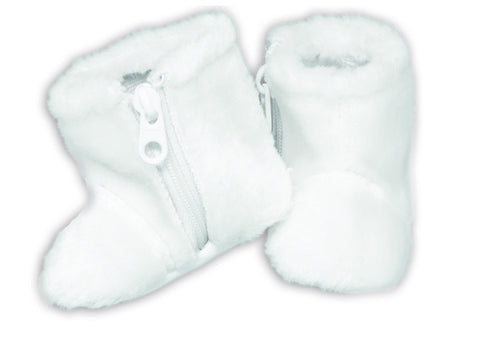 FURRY WHITE BOOTS