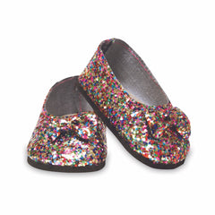 Shoes,Springfield,MULTI GLTR FLATS W/BOW
