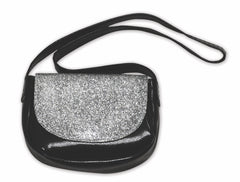 Accessories,Springfield,GLITTER CROSSBODY BAG   BLACK