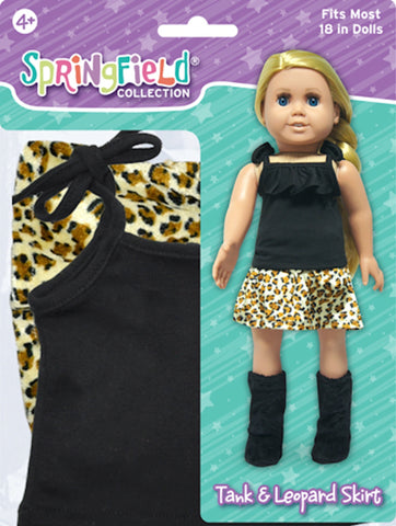 Clothing,Springfield,BLACK TANK W/LEOPARD SKIRT