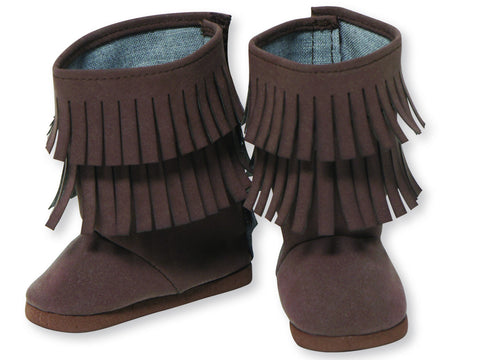 BROWN FRINGE BOOT