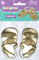 Shoes,Springfield,GOLD SANDALS