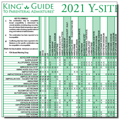 2021 Y-Site Compatibility of Chemotherapy Admixtures Wall Chart - Laminated