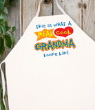 Attitude Apron Real Cool Grandma - LA IMPRINTS