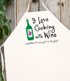 Attitude Apron Cooking with Wine - LA IMPRINTS