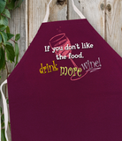 Attitude Apron Drink More Wine - LA IMPRINTS