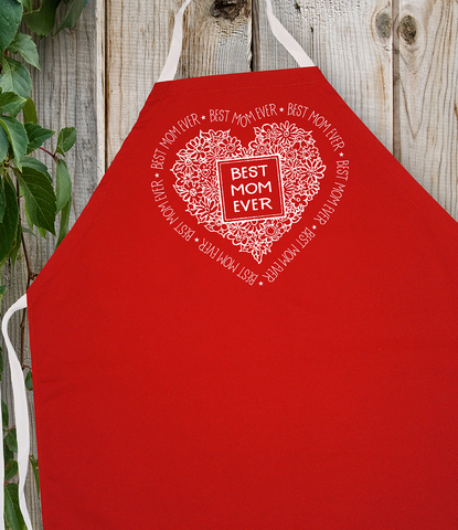 Attitude Apron Best Mom Ever - LA IMPRINTS
