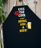 Attitude Apron Kiss Cook Bring Beer - LA IMPRINTS