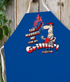 Attitude Apron Married Me for Grillin' - LA IMPRINTS