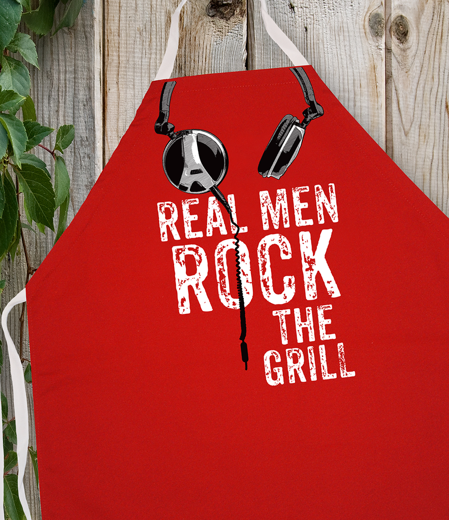 Attitude Apron Real Men Rock