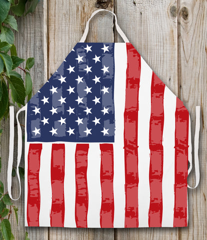 American Flag Apron by LA Imprints