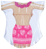 Fantasy Coverup Hot Pink Sarong - LA IMPRINTS