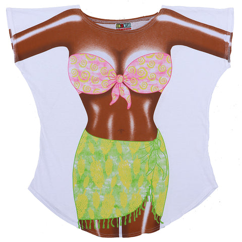 Fantasy Coverup Dark Skin Tropical Girl