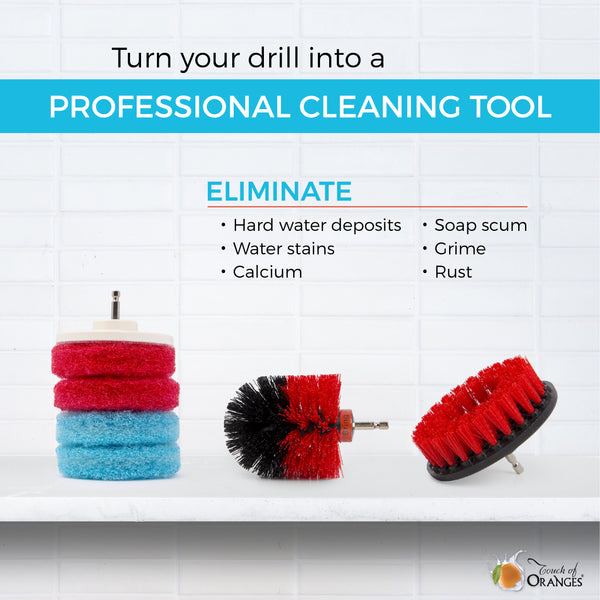 Drill Brush and Pads Set | Touch of Oranges