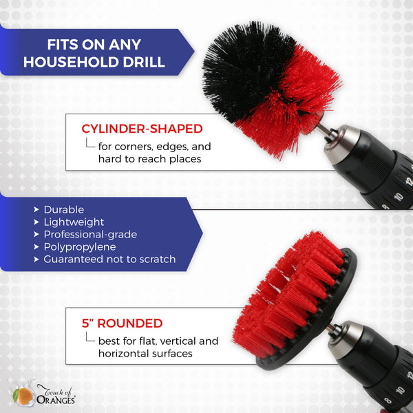 Drill Brushes Tile and Grout Cleaning