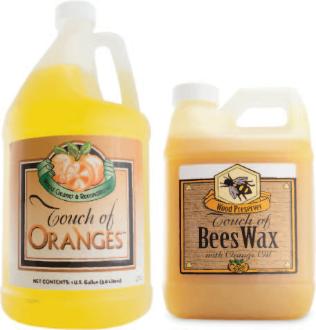 touch of oranges wood cleaner
