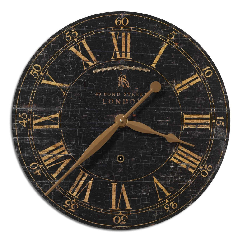 "Bond Street 18"" Wall Clock - The Hive Experience"