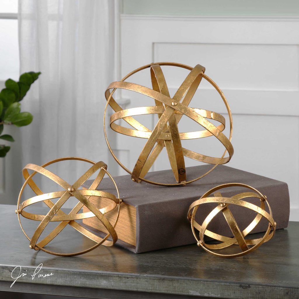 Stetson Gold Spheres - Set of 3 - The Hive Experience