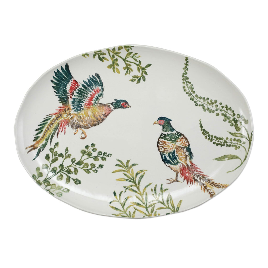 Fauna Pheasants Large Oval Platter - The Hive Experience