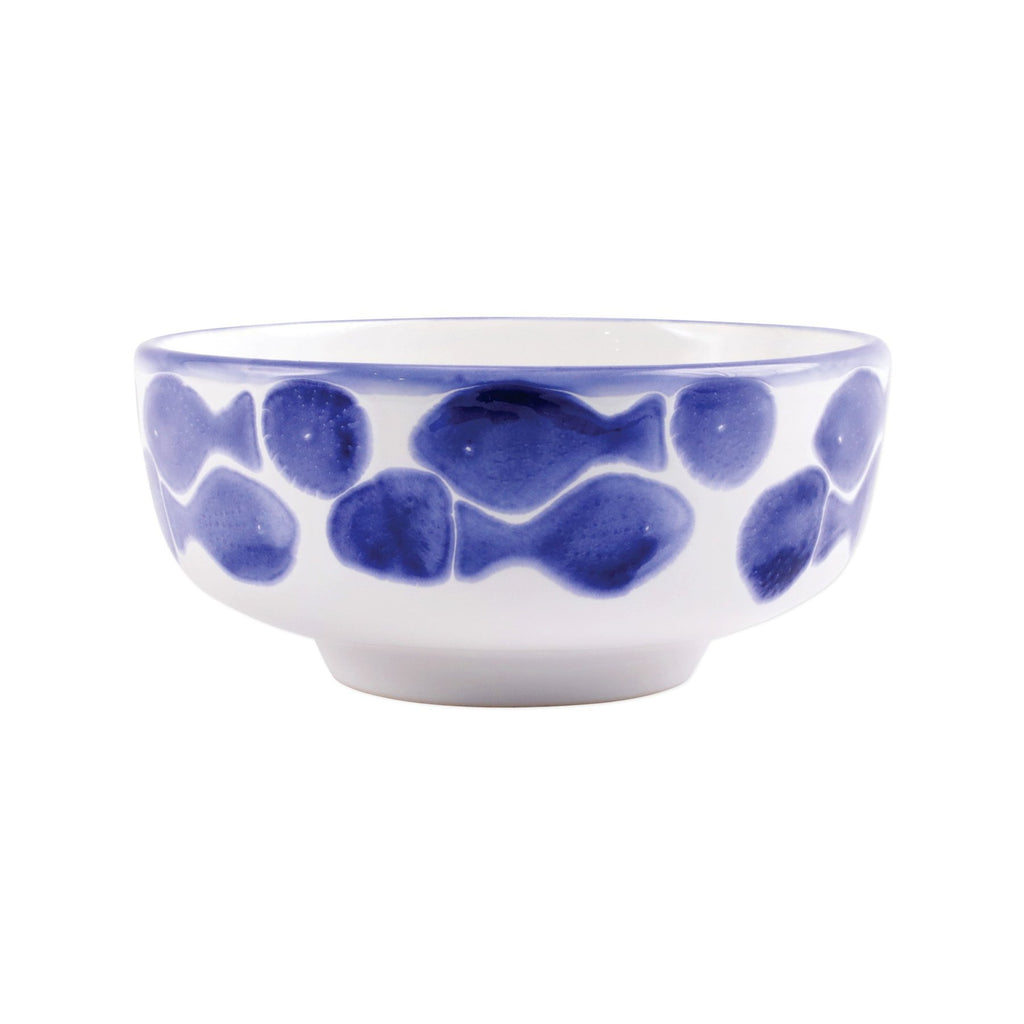 Santorini Fish Medium Footed Serving Bowl - The Hive Experience