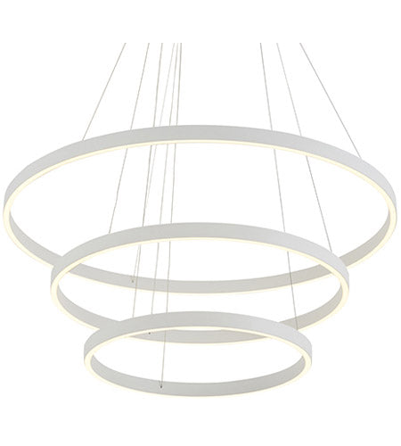 Cerchio LED 3 Tier Chandelier - White - The Hive Experience