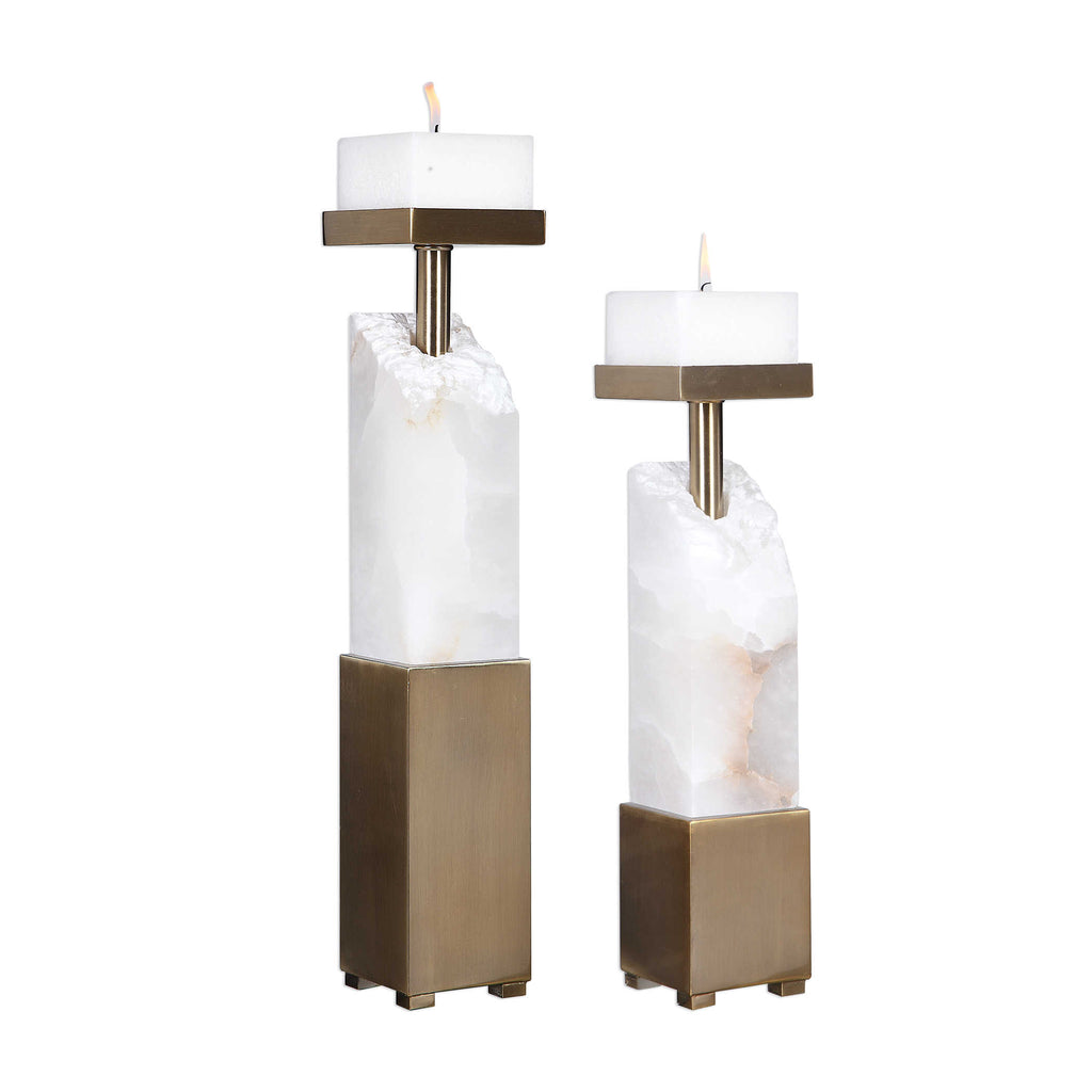 Ebena Candleholders - Set of 2 - The Hive Experience