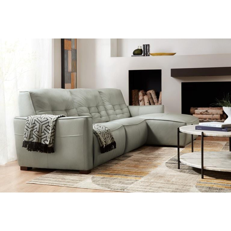 Reaux Power Recline Sofa with Raf Chaise w/2 Power Recliners - The Hive Experience