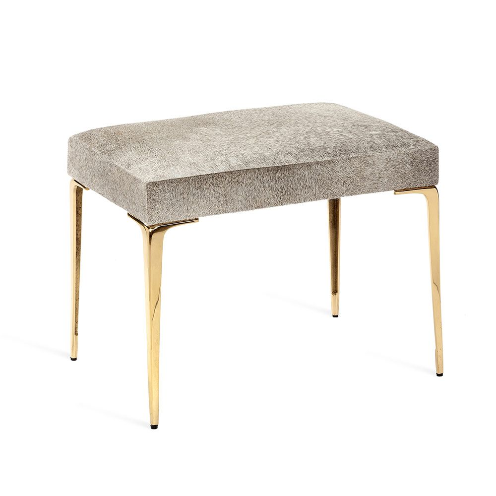 Stiletto Hide Stool - Brass - The Hive Experience