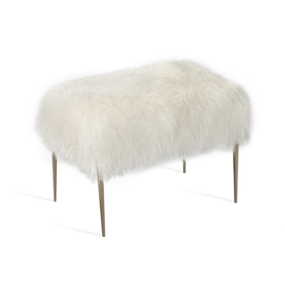Stiletto Stool - Ivory Sheepskin - The Hive Experience