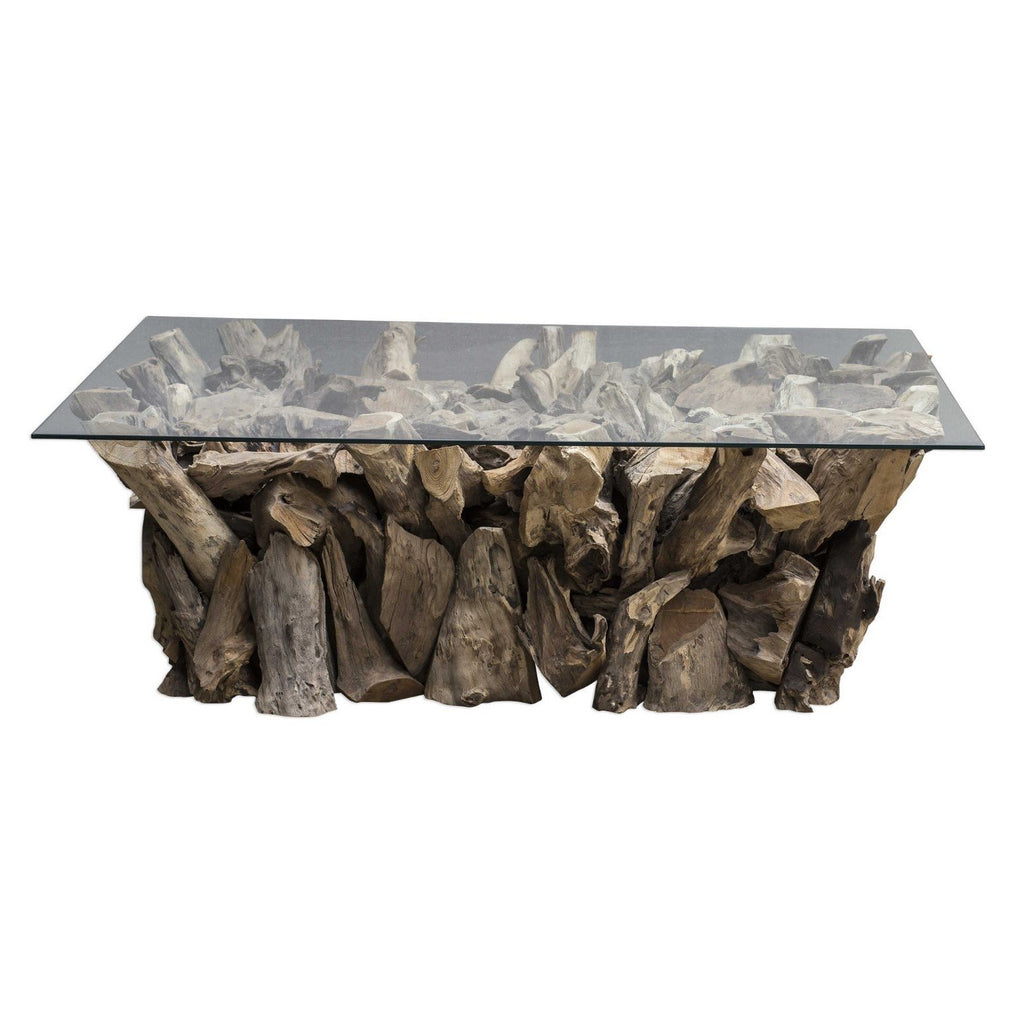 Teak Root Coffee Table - Rectangle - The Hive Experience
