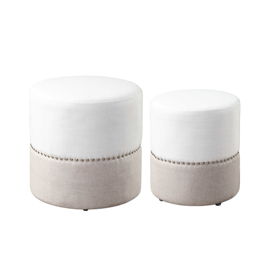 Tilda Nesting Ottomans, Set of 2 - The Hive Experience